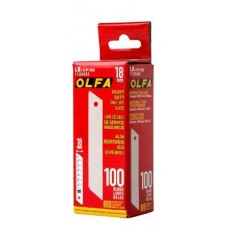 Olfa LB-CP 100 Contractor Pack Heavy-Duty 18mm Snap-Off Blade - 100/pk