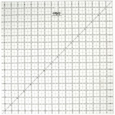 "Olfa QR-16S 16 1/2"" Square Acrylic Ruler Non-Slip, Frosted"