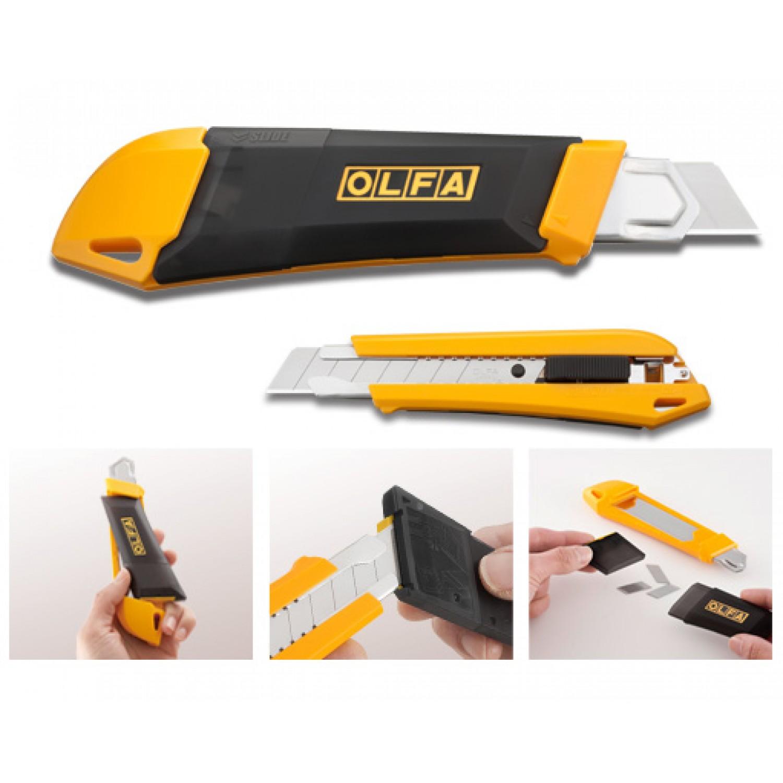 Olfa DL-1 SNAP it 'N' TRAP it Heavy-Duty Utility Knife Illustration