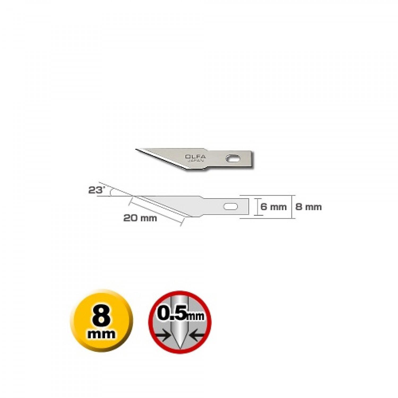 Olfa KB4-S/100 Precision Blade Dimensions
