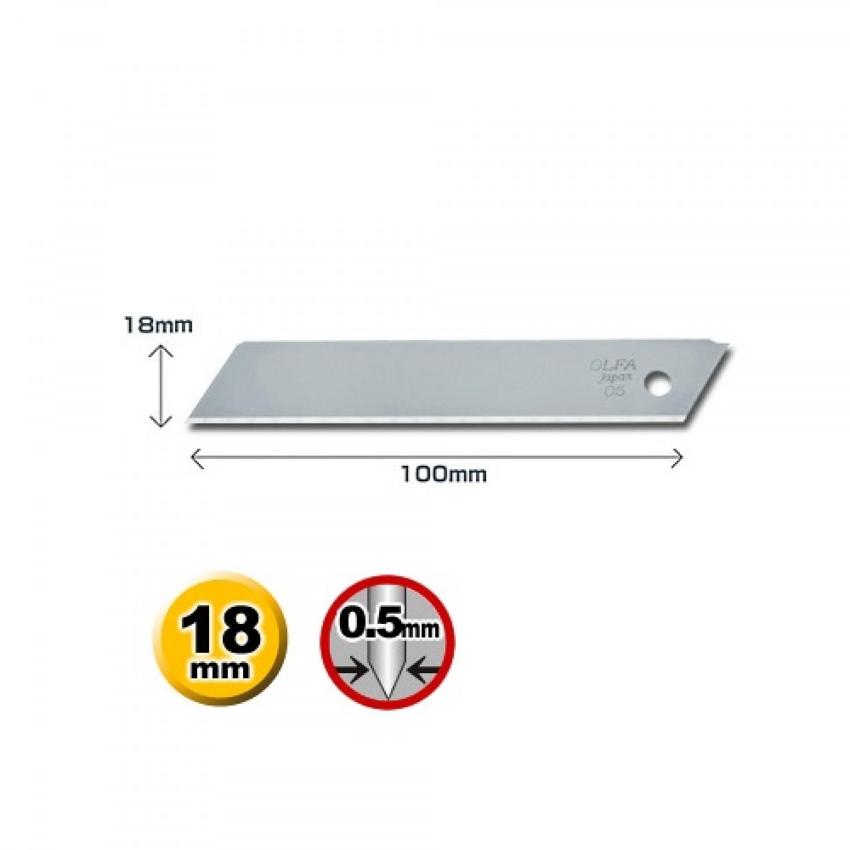 Olfa LSOL-10B 'Solid' Blade Dimensions
