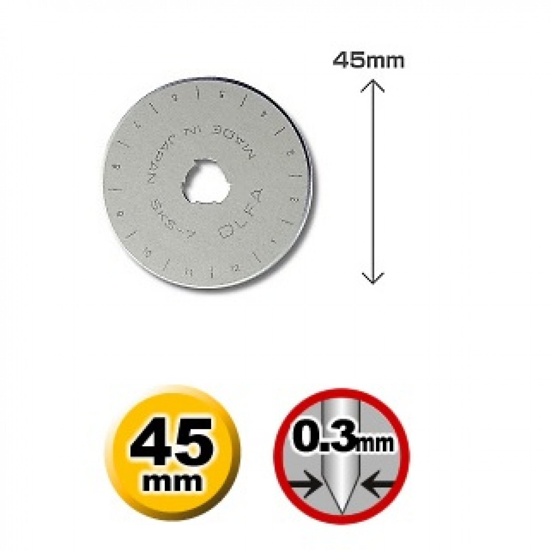 Olfa RB45-10 Rotary Blade Dimensions