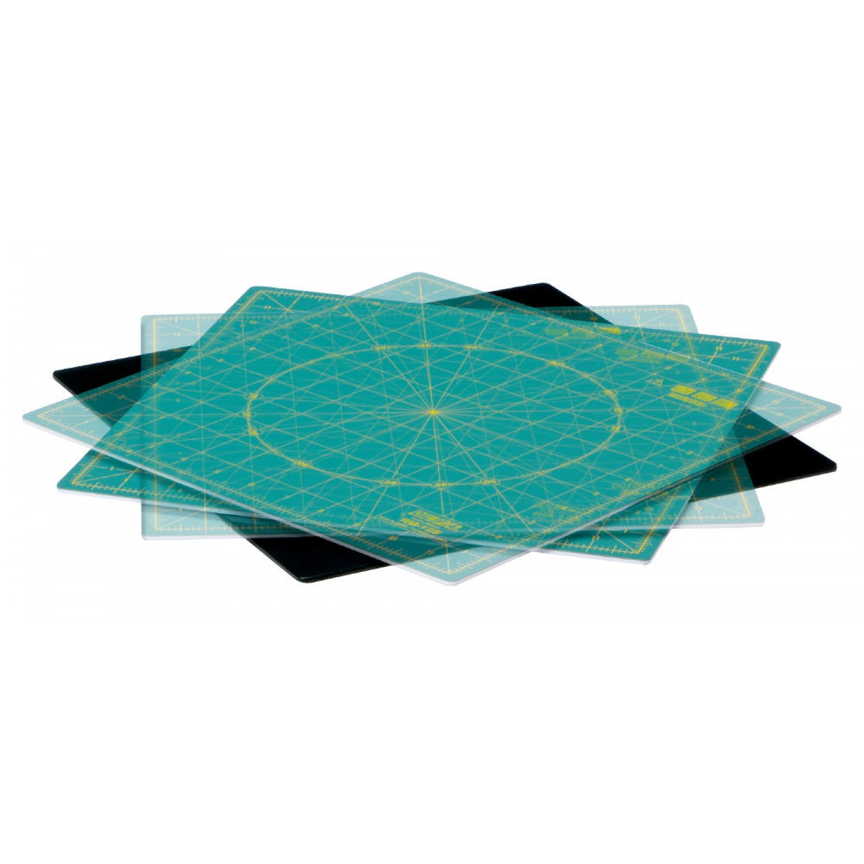 "Olfa RM-12S 12"" Square Rotating Cutting Mat Alt"