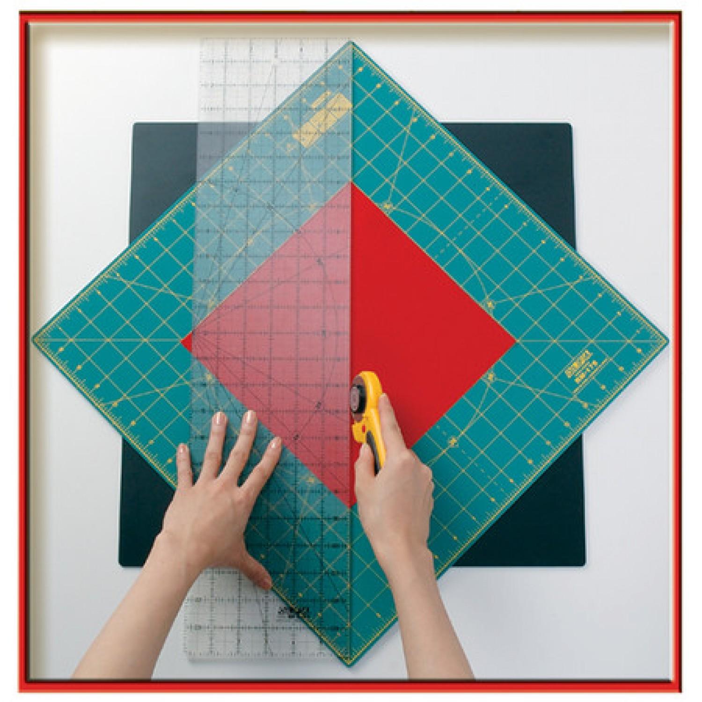 "Olfa RM-12S 12"" Square Rotating Cutting Mat Illustration"