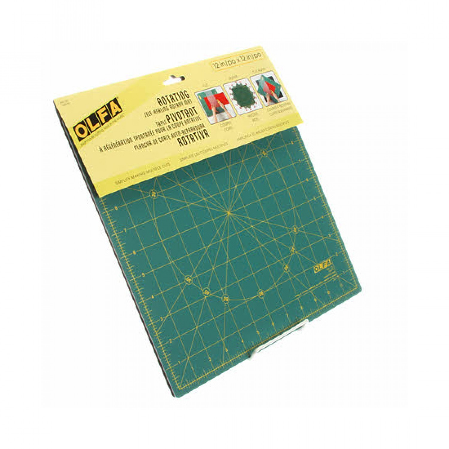 """Olfa RM-12S 12"""" Square Rotating Cutting Mat Package"""