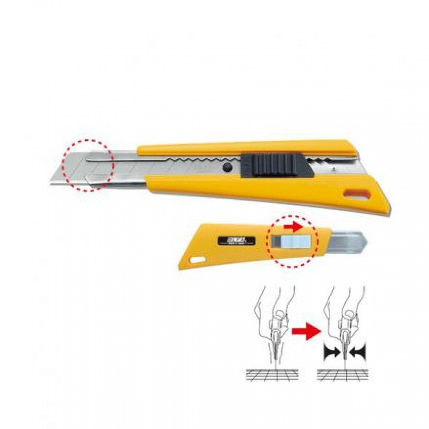 Olfa FL Side Lock Cutter Illustration
